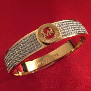 Michael Kors Pave Fulton Hinge Bangle Bracelet